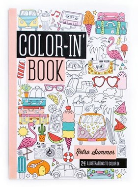 Ooly 118-165 Travel Size Color-in Book Retro Summer