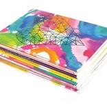Ooly 118-163 Mini Pocket Pal Journals Abstract Set of 8