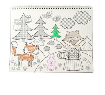 Ooly Color'in Book - Cozy Critters