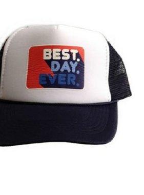 Chibella Best Day Ever Trucker Hat Navy/White
