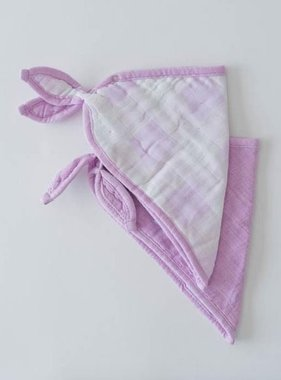 Little Unicorn UF0105 Cotton Bandana Bib-Lilac Plaid