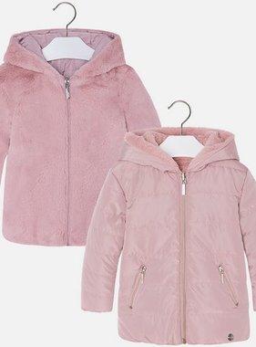 Mayoral 4471 62 Reversible Fur Jacket Light Rose