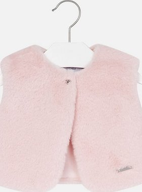 Mayoral 2461 64 Fur Vest Rose