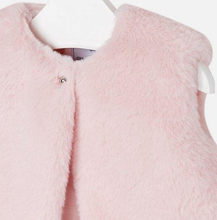 Mayoral 2461 64 Fur Vest Rose