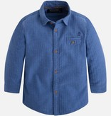 Mayoral 4139 20 L/S Spike Shirt Blue