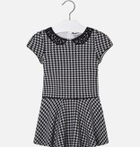 Mayoral 4935 80 Houndstooth Dress Charcoal