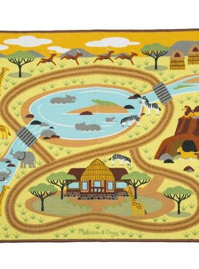 Melissa & Doug Round the Savanna Safari Rug