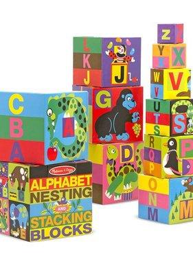 Melissa & Doug Alphabet Nesting and Stacking Blocks 2782