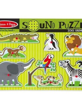 Melissa & Doug Zoo Animals Sound Puzzle 727 YES