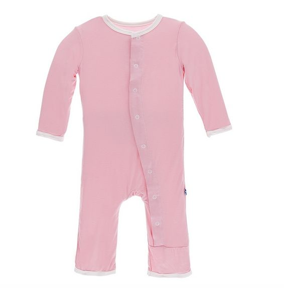 Kickee Pants Holiday Layette Applique Coverall I love Grandpa Lotus