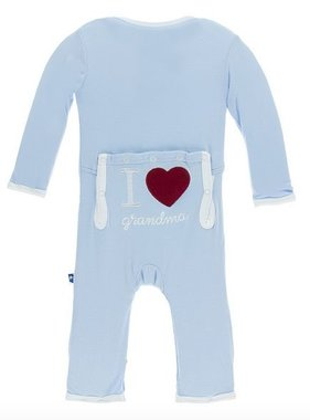 Kickee Pants Holiday Applique Coverall I love Grandma Pond