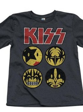 Junk Food Clothing KS101-0550 Kiss Faces Tee Pep