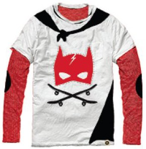 Mini Shatsu Super Hero Cape Twofer Shirt