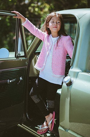 Mini Shatsu Pink Blazer L/S Shirt