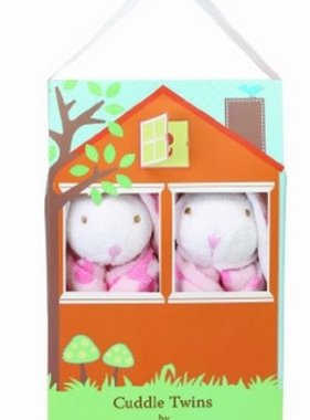 Angel Dear 1167T Cuddle Twins Flower Bunny Blankies