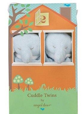 Angel Dear 1109T Cuddle Twins Blue Elephant Blankies