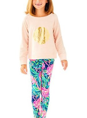 Lilly Pulitzer Kids 26982-UL8 Maia Legging Flamingo Beach
