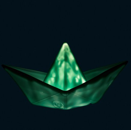 Goodnight Light Paper Boat Lamp Mint