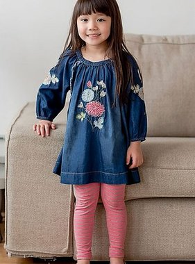 Mimi & Maggie 80143-IND Mariposa Denim Embr. Dress Indigo