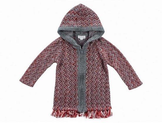 Mimi & Maggie 4079-ROS Pebble Garden Zip Hoodie Sweater, Rose