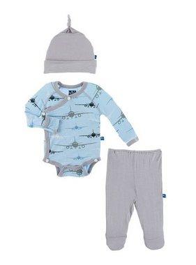 Kickee Pants Kimono Gift Set, Pond Airplanes