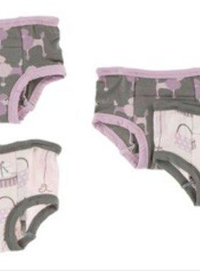 Kickee Pants Training Pants Set of 2, Cobblestone Poodle/Paris