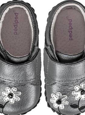 Pediped 5055-PWT Aryanna Flower Shoe Pewter