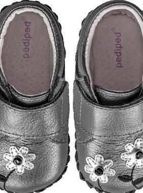 Pediped 5055-PWT Aryanna Flower Shoe Pewter