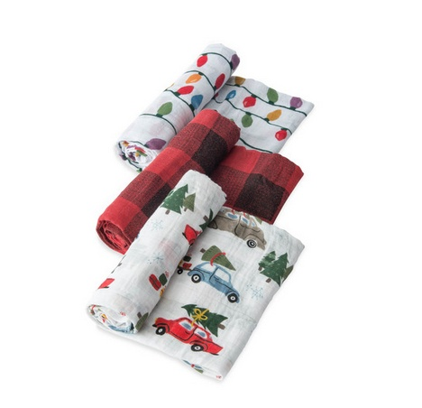 Little Unicorn UB0027 Swaddle 3 Pack-Holiday Haul