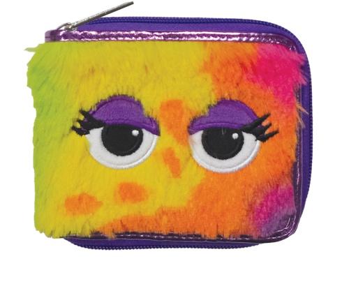 Iscream 810-617 Tie Dye Furry Wallet w/ Eyes