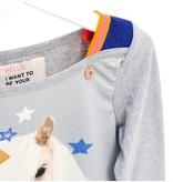 Mimpi Clothing 626-MIM Unicorn Sweater, Grey