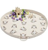 3 Sprouts UPMOWL Play Mat Bag/Owl White