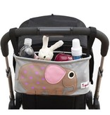 3 Sprouts UDOELP Stroller Organizer/Elephant Pink