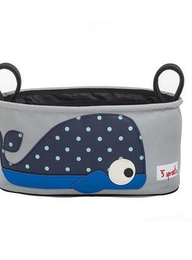 3 Sprouts USOWHL Stroller Organizer Whale Blue