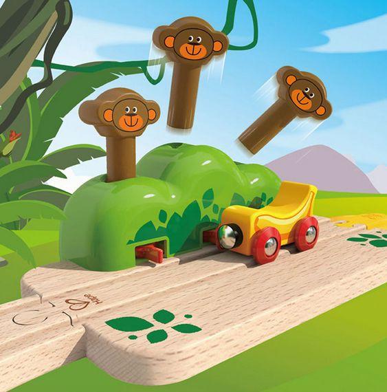 Hape E3809 Monkey Pop-Up Track