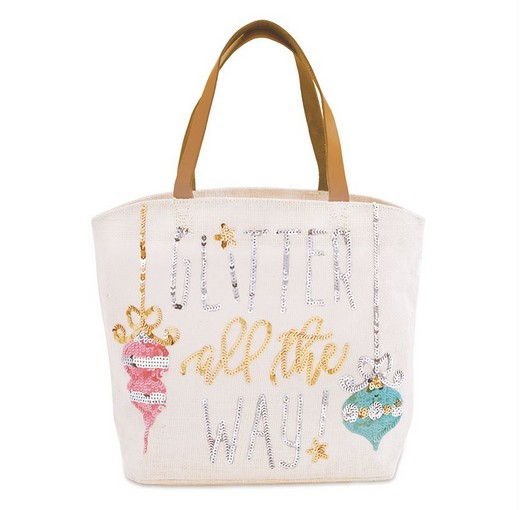 Mud Pie GLITTER ALL THE WAY TOTE 17220100