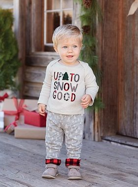 Mud Pie 1012221 Snow Good Pant Set