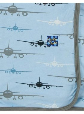 Kickee Pants Print Swaddling Blanket-Pond Airplanes
