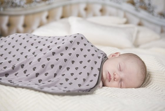 Kickee Pants Print Swaddling Blankets Feather Hearts