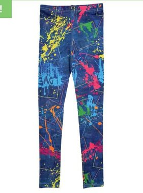 Iscream 820-1174L Paint Splatter Denim Leggings
