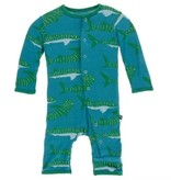 Kickee Pants Print Coverall Snaps, Seagrass Whale Shark