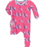 Kickee Pants Print Footie Snaps, Flamingo Sailing Race