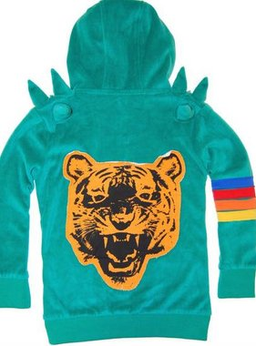 Mini Shatsu Green Tiger Spike Hoody