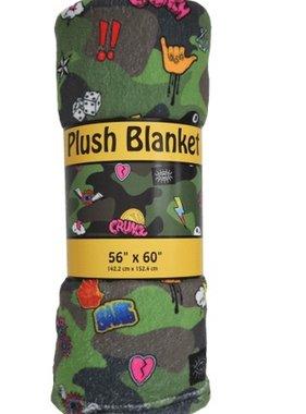 Iscream 780-769 Camo Plush Blanket