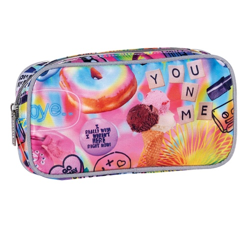 Iscream 810-497 Psychedelic Collage Small Cosmetic Bag