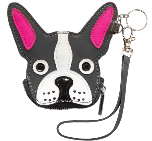 Iscream 810-548 Black French Bull Dog Purse/Key Chain