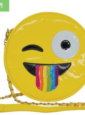 Iscream 810-576 Crazy Face w/Rainbow Lounge Crossbody Bag