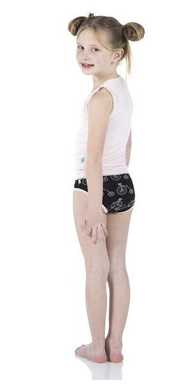 Kickee Pants Girl Underwear Set of 2, Girl Bike/Feather Hearts