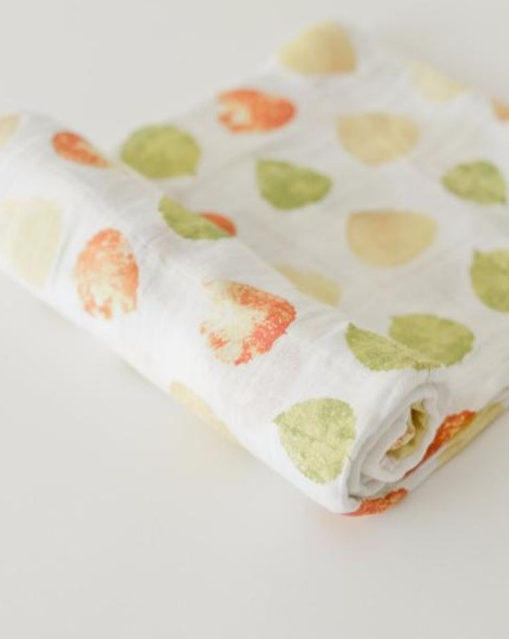 Little Unicorn UB0156 Cotton Muslin Swaddle Single - Aspen Leaves