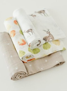 Little Unicorn UB0018 Cotton Muslin Swaddle 3pk - Oh Deer Set